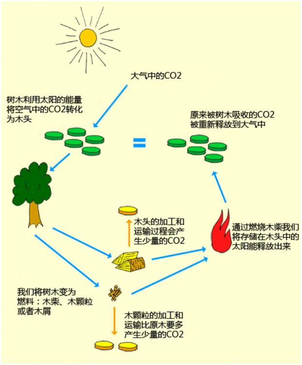 木柴燃料的CO2周期.png