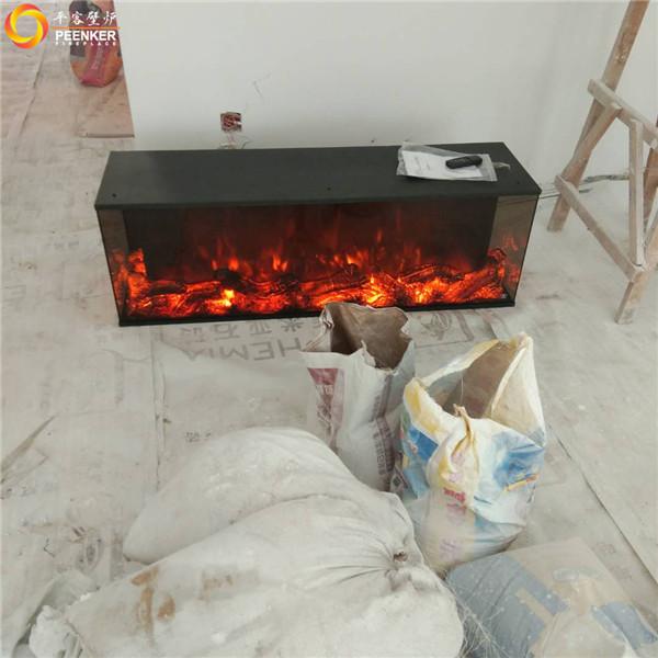 平客壁炉江苏南京颐和美地三面电壁炉安装实拍.jpg