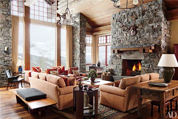 壁炉设计:国外28间带壁炉的客厅设计20.jpg