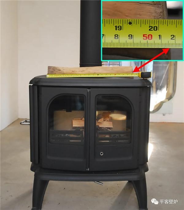 丹麦真火壁炉morso 3640侧燃木长度.png